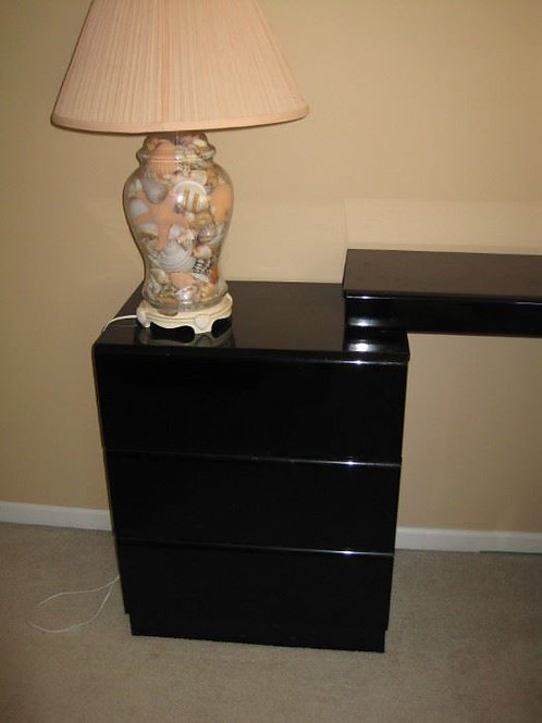 """Side table Lane black lacquer 30"""" tall 24"""" wide"""