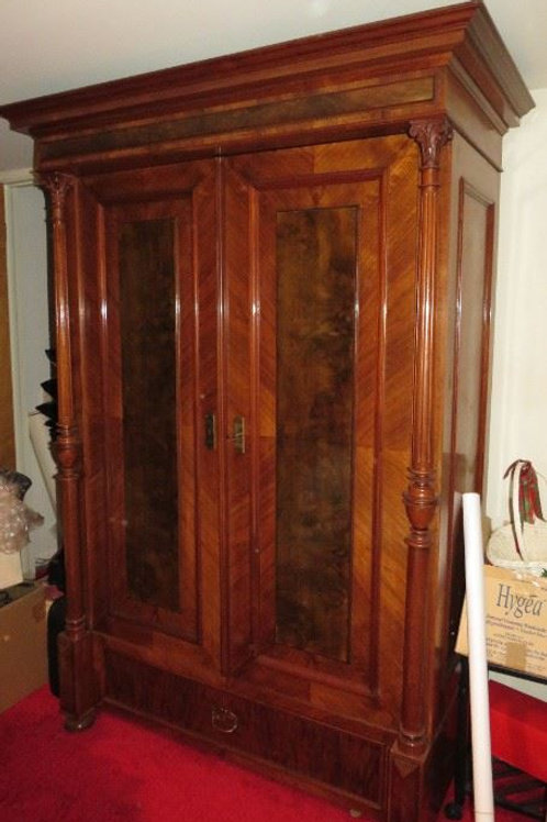 Fabulous Cherry Storage cabinet. Excellent condition 8' tall