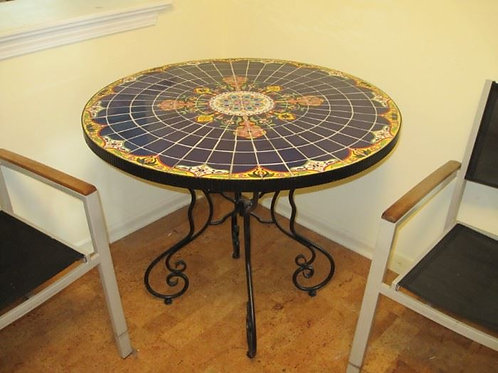 """Pier One Mosaic Bistro table 36"""" across 30"""" high excellent condition"""