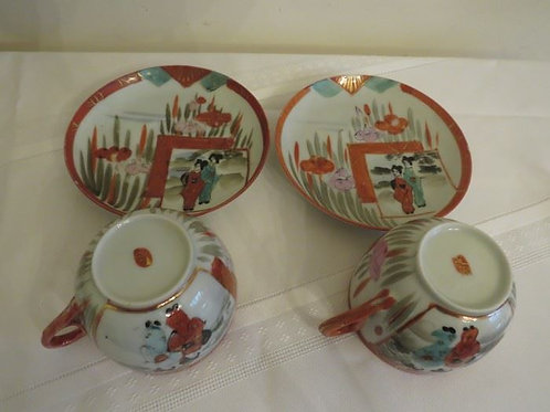 2 Chinese tea cups no chips or cracks