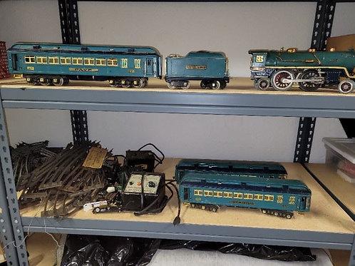 Lionel trains set two tone blue