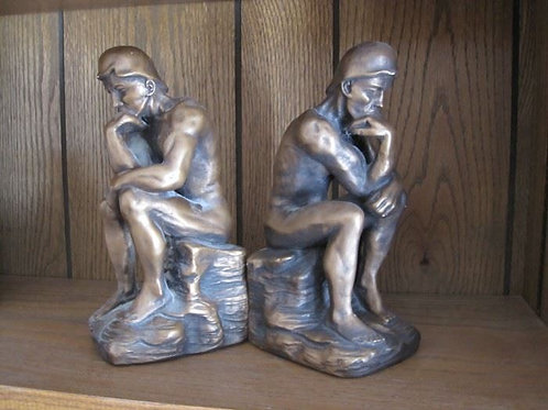 """Marwall 1966 M. Bucchesi bookends 9"""" some wear"""