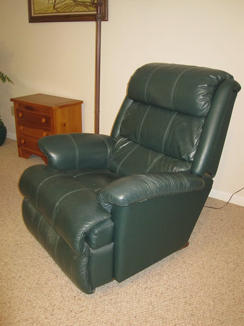 Green Leather Lazyboy chair, gently used