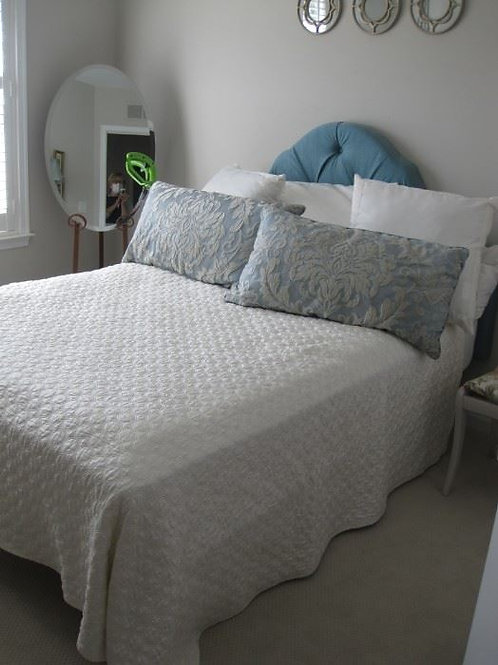 Queen Bed, new mattress and box spring only