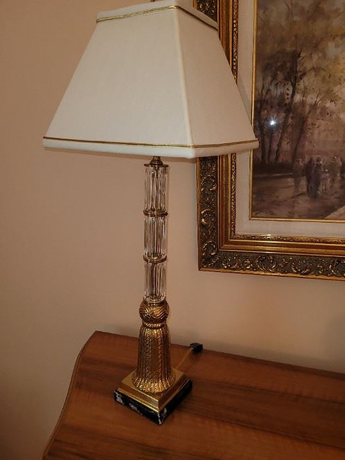 """Table lamp Gold tone on marble 30"""""""