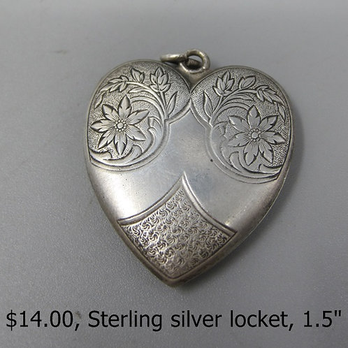 Sterling Silver Locket, 1.5""