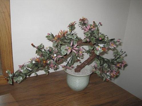 "Glass Bonsai tree sculpture 20"" wide"
