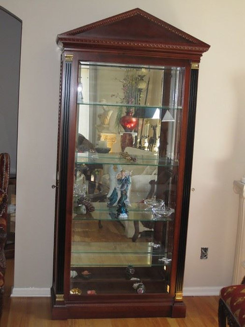 "Large Pennsylvania house lighted curio keyed side entry, 82"" tall, 35""wide,13"""
