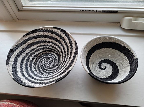 African Telephone Wire Baskets - 7""