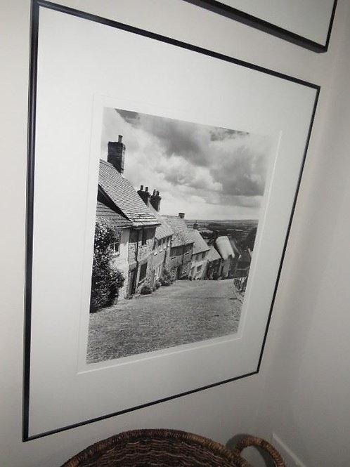 """24"""" Framed Photo, houses on hillside"""