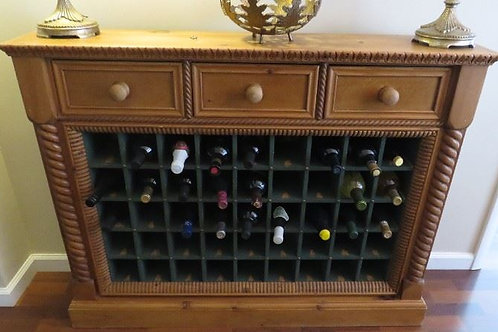 """Wine Cabinet with drawers 51""""W x 39""""T, Pine??"""