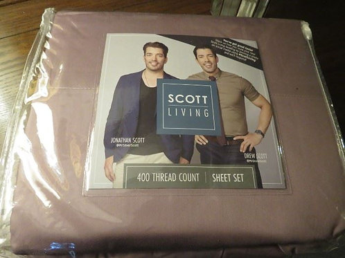 Scott Living King sheet set pale plum