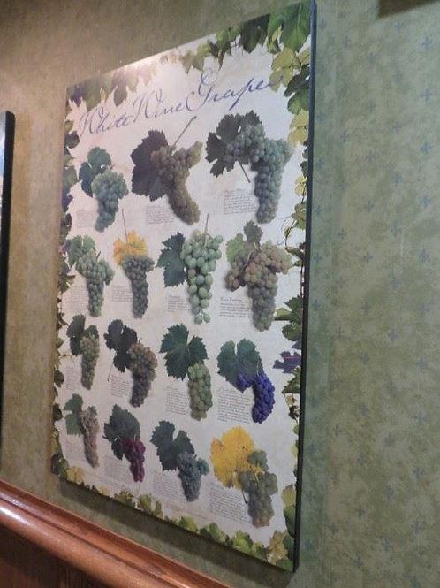 """Wine Grape Print 23"""" X 3'"""