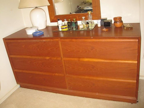 Teak Dresser 6 drawer
