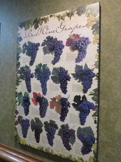 """Wine Purple Grape Print 24"""" X 3'"""