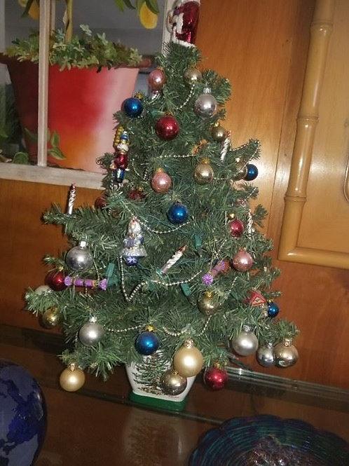 """Spode Christmas tree with lights 23"""""""