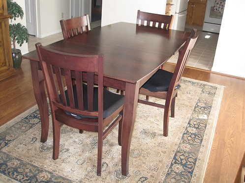 Made in USA solid Maple dining table & chairs