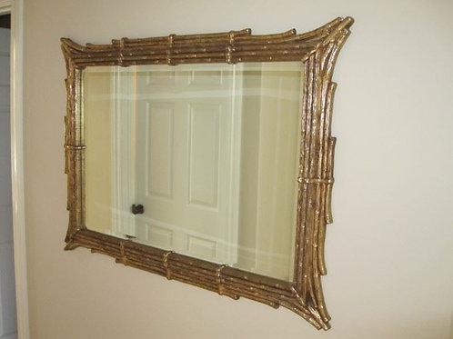 "43 x 30"" heavy stem pattern mirror"
