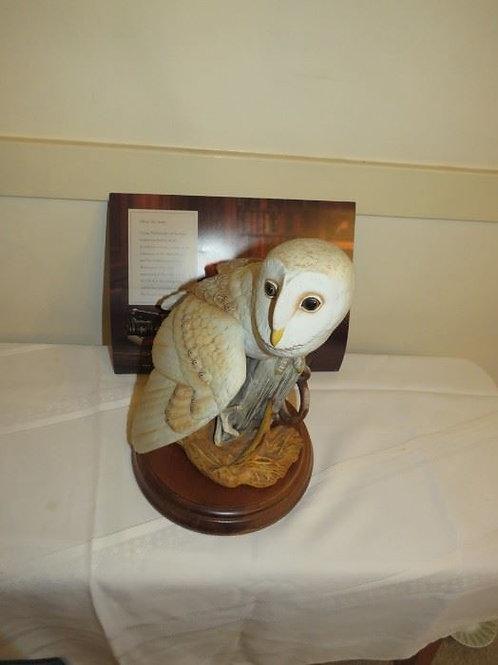 "Franklin Mint Porcelain The Barn Owl Figurine George McMonigle, 12"""