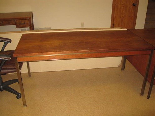 MCM 4 piece desk unit made from Mozambique wood, and metal trim, very nice!!