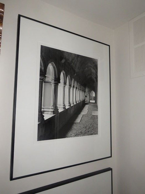 """24"""" Framed Photo, walkway in open castle"""