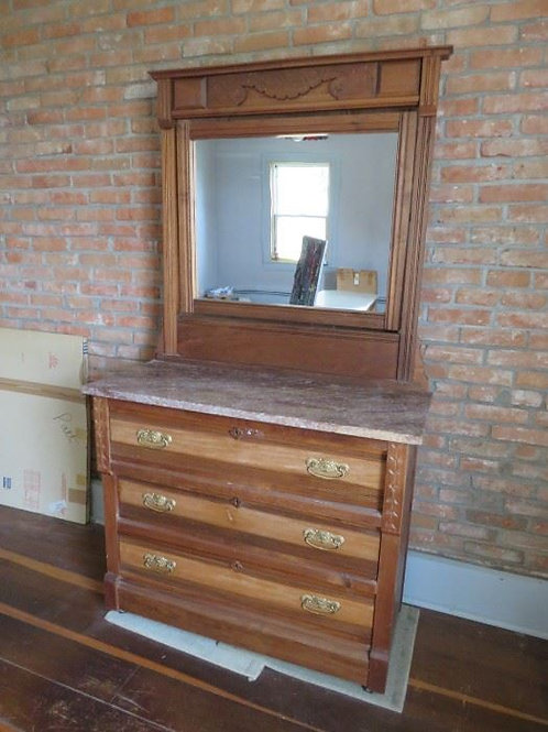 Antique Oak Dresser w/ Marble Top