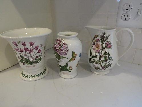 Portmerion Botanic - Two Vases & One Pitcher