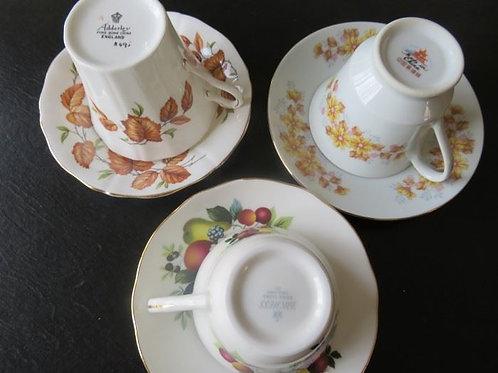 3 Porcelain tea cups, VG condition
