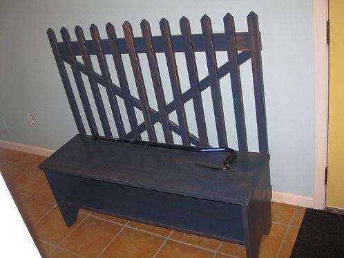 "Black entry bench 49""W x 45""T x 15"" deep"