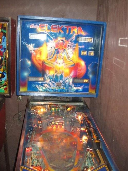 1981 Elektra Pinball machine