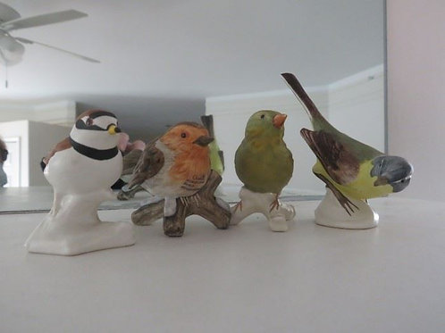 4 Goebel Porcelain birds 3 to 4""