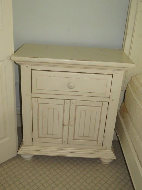 Painted Cream Bedside Table