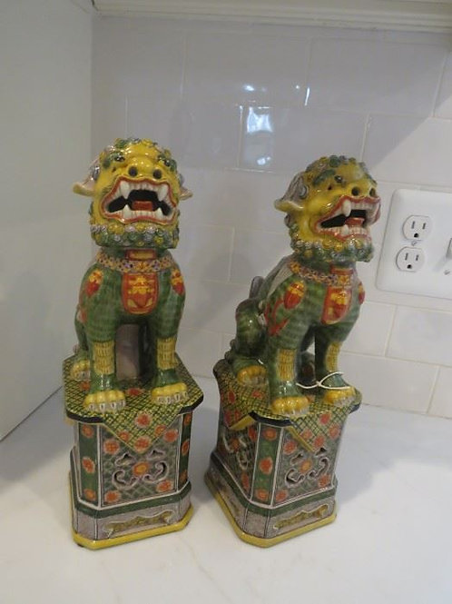 Chinese Foo Pottery Foo Dogs