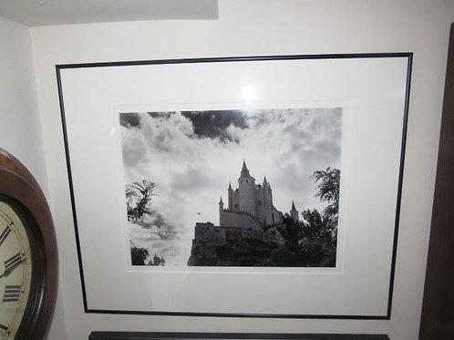 "24"" Framed Photo castle in sky"