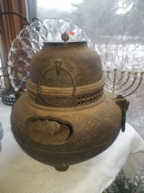 Antique Japanese Fire Pot large