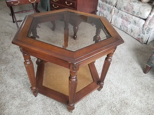 """Octagon table 22"""" tall by 2' across, vg condition"""