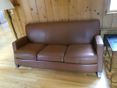 Rust Studio Leather sofa in vg condition