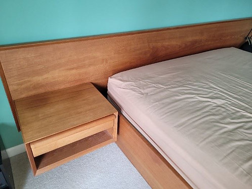 MCM Teak double Bed set