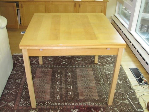 "Ansager Mobler Denmark Table with extending leaves, 35 x 36"" with two 16"" leaves"