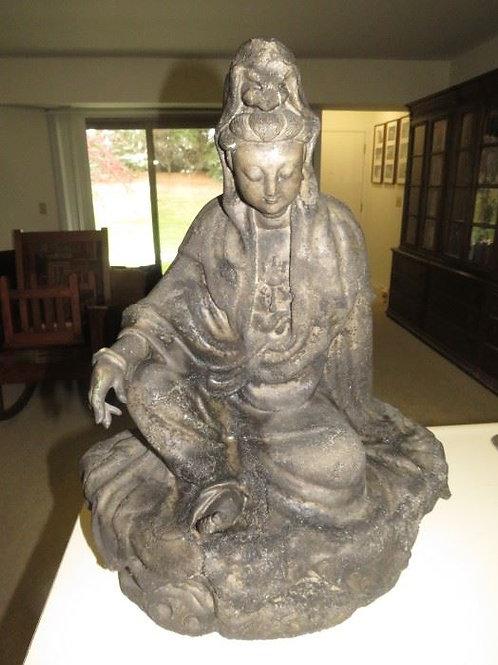 "Resin Buddha sculpture very heavy 21"" T"