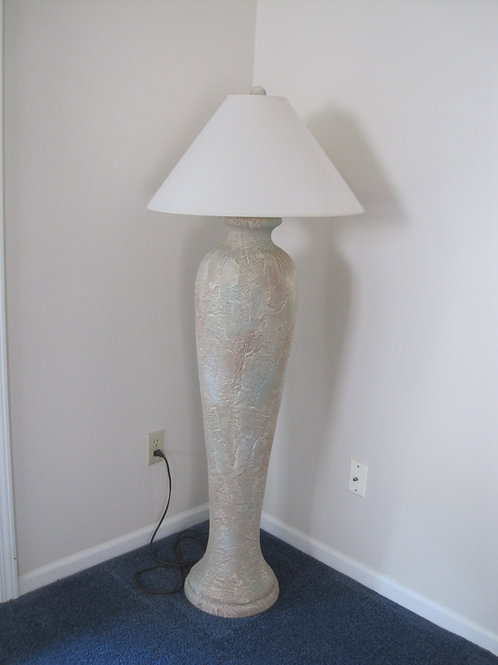 Tall Southwest style floor lamp