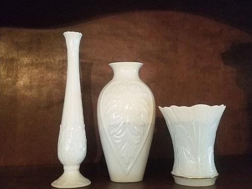"3 Lenox vases, tallest 10"""