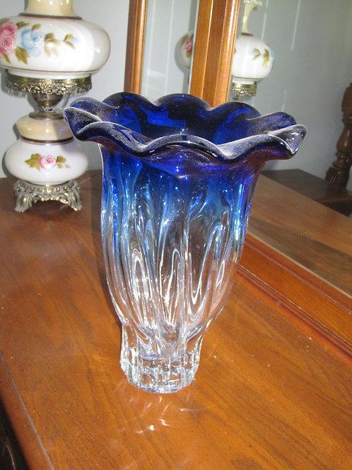 """Art Glass Vase 12"""""""