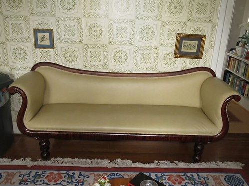 "Naugahyde Antique Parlor sofa excellent condition 80"""