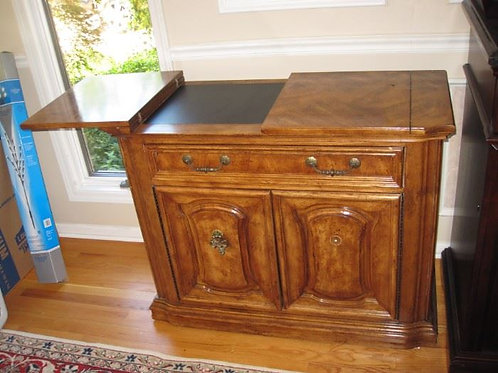 """Thomasville sideboard server, 34"""" tall, 42"""" w unfolded"""