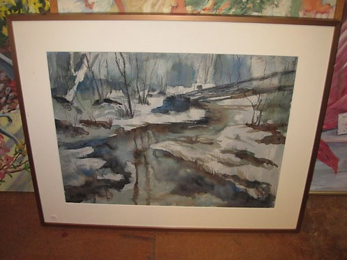 """Early Watercolor by J. Coates 28/23"""""""