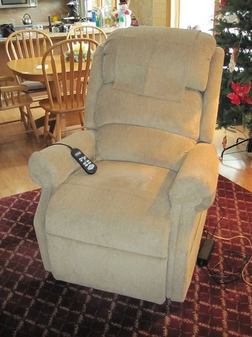 """Like new Ultra Comfort lift and recliner upholstered chair 21"""" wide and 20"""" deep"""