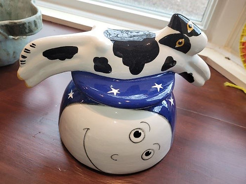 Palmer Cat Over the Moon Cookie Jar