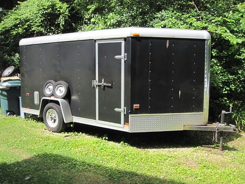 Approximately 14' motorcycle trailer