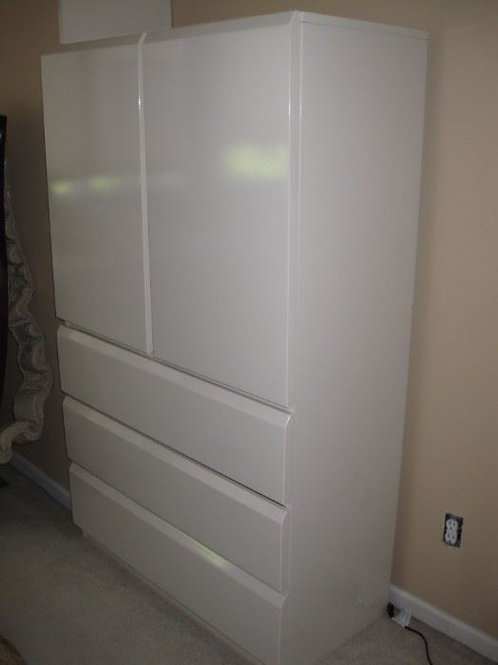 """Lane White Lacquer wardrobe Excellent condition, 61"""" tall & 38"""" wide"""